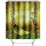 "Senhai impermeabile e anti batterica Shower Curtain con 12 ganci, poliestere cortina di Swing Misterioso, 72 ""X 72"""
