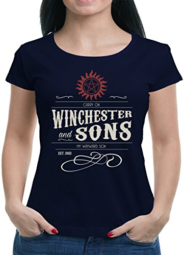 TLM Winchester Bros - Carry On T-Shirt Damen M Dunkelblau (Street Damen Blauer Gang)