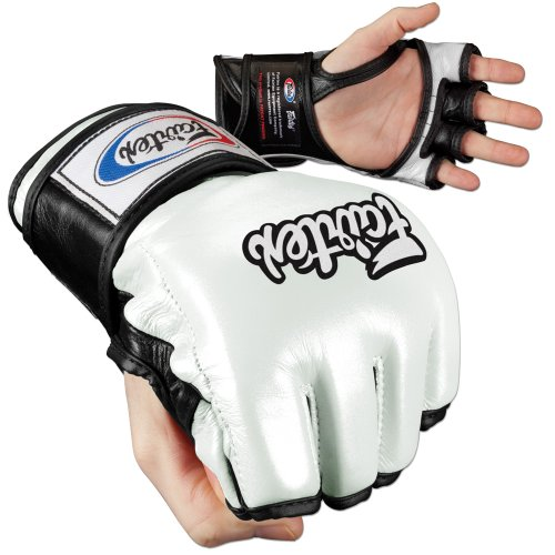 Fairtex último combate MMA Guantes – abierto pulgar - FG19      WH.BKLARGE, Large, Blanco/Negro