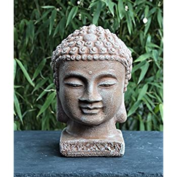buddha kopf gro terrakotta garten deko figur stein. Black Bedroom Furniture Sets. Home Design Ideas