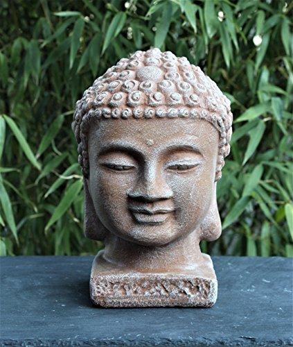 Buddha Kopf – Terrakotta, Garten, Deko, Figur, Stein, Statue, Frostsicher
