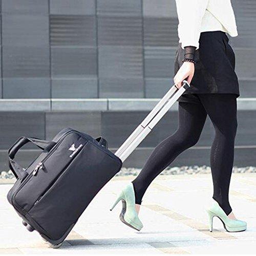 Hochleistungs-Nylon Tragbare Trolley Bag Gepäck Tasche Boarding Gepäck ( Farbe : 2 , größe : 48*30*29cm ) 2