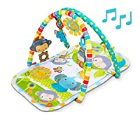 Fisher-Price CLJ42 Snuga Monkey Musical Play Gym, New Born Baby Play Mat for Tummy Time with Music and Sounds, Suitable from birth