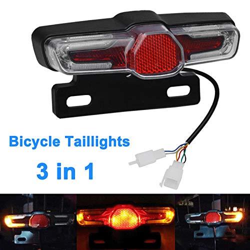 Alftek LED Rücklicht Bremslicht 36V-48V für E-Bike Elektrofahrrad -