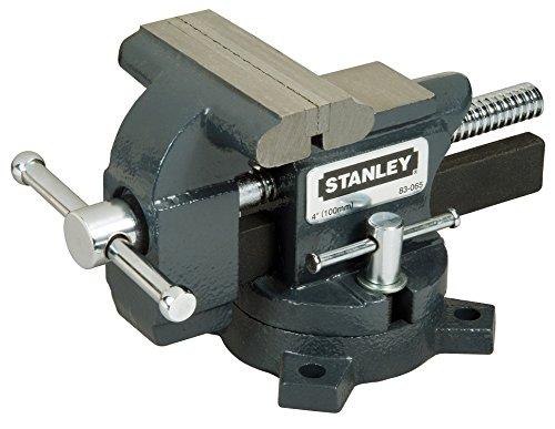 Stanley Maxsteel Schraubstock leichte Ausführung 1-83-065 / Gusseiserner Tischschraubstock mit 85mm Ausladung, 100mm Spannweite & 110kg Spannkraft für den vielseitigen Einsatz - 2