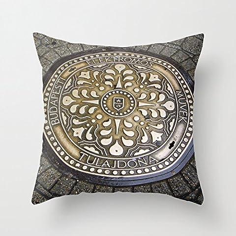 Cuscino decorativo custodia in tela Watercolor sirena 18'inches, 50% cotone/50% poliestere/ in cotone/poliestere, color#50, 50 cm(20