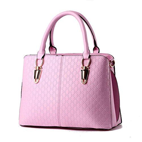 koson-man-borsa-da-donna-semplice-tote-bags-maniglia-superiore-rosa-rosa-kmukhb226