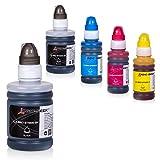 Logic-Seek 5 Tintenbehälter kompatibel für Brother BT6000 BT5000 für Brother DCP-T300 T500W MFC-T700W T800W