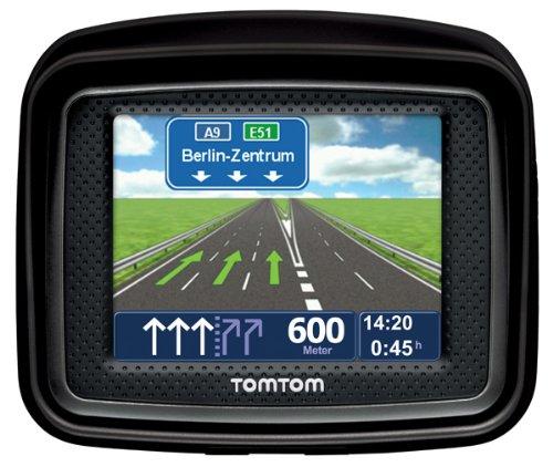 Bild 1: TomTom Urban Rider Central Europe Motorrad-Navigationssystem (8,9 cm (3,5 Zoll) Display, IQ Routes, Fahrspurassistent) mattschwarz