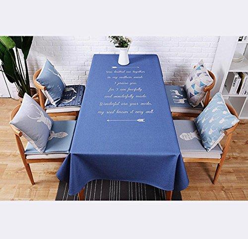 DZYZ Toile de coton et de lin Taille rectangulaire européenne En option , 110*170cm , blue