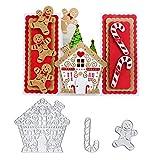 kimiLike - Plantilla para troqueladora, diseño de Navidad con Motivos navideños, para Scrapbooking, Papel fotográfico, Tarjetas, estampación para Manualidades, Regalo de cumpleaños, Color Plateado