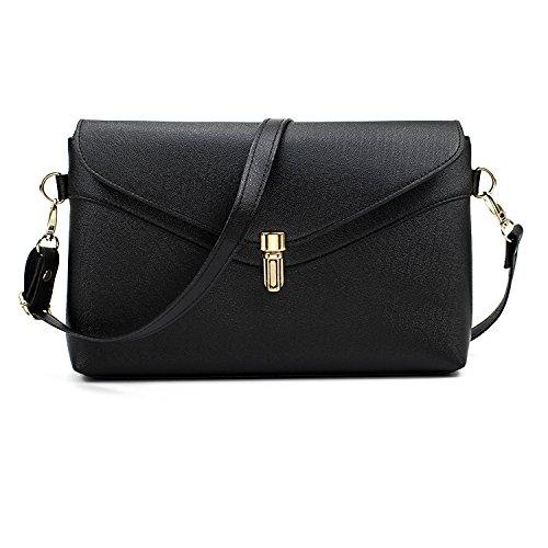 neue frau pack umhängetasche mode einfach frauen, kleine lady messenger tasche lässig mädchen tasche saniert Schwarz