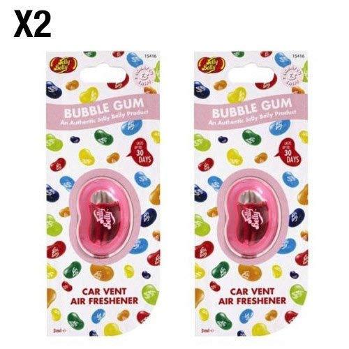 Jelly Belly Bubble Gum Geschmack Vent KFZ Lufterfrischer-2Pack (Twin Pack) -