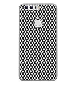 Fiobs Designer Back Case Cover for Huawei Honor 8 (White Dot Pattern)