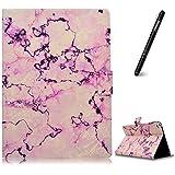 iPad Air 2 Hülle,Slynmax Superleicht SchutzhülleAbdeckung Smart Case Tasche Marmor Lederhülle Ultra SlimFlip Case Standfunktion für iPad Air 2 2014 Modell Number A1566/ A1567 Tablet - Pink