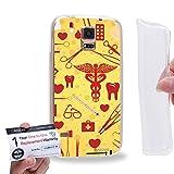 Case88 [Samsung Galaxy S5] Gel TPU Hülle / Schutzhülle & Garantiekarte - Nurse theme syringes medic medicare DSE0315
