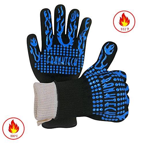 BBQ Handschuhe Oven Mitt, Handschutz vor Grillen, BBQ, Brände, Mikrowelle und andere heiße Arbeit in der Küche, Outdoor Camping und...