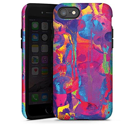 Apple iPhone X Silikon Hülle Case Schutzhülle Color Explosion Farben Bunt Tough Case glänzend