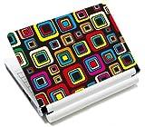 MySleeveDesign Notebook Skin Aufkleber Folie Sticker für Geräte der Größe 10,2 Zoll / 11,6 - 12,1 Zoll / 13,3 Zoll / 14 Zoll / 15,4 - 15,6 Zoll mit VERSCH. DESIGNS - Square Brown