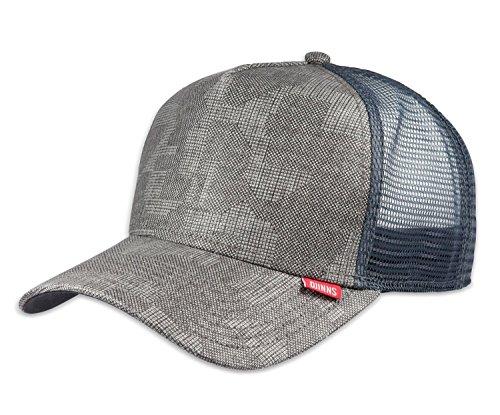 DJINNS - Pixel Camo (grey) - High Fitted Trucker Cap