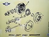 MZA Explosionsdarstellung Farbposter (72x50cm) Simson AWO 425 Hinterradantrieb AWO Sport