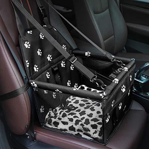 GENORTH Seggiolino Auto per Cani Dog Car Seat Aggiorna Seggiolino Auto Booster per Cani con Coperta per Cani, Perfetto per Animali di Piccola Taglia