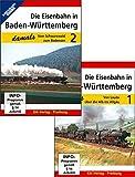 Die Eisenbahn in Baden-Württemberg damals - Teil 1 und Teil 2 im Paket: Teil 1: Von Lauda über die Alb ins Allgäu + T