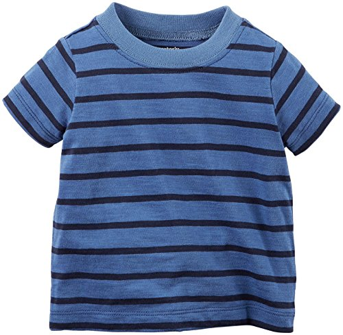 Carters's kurze Latzhose + T-Shirt Sommer Set Baby Junge Shorts Outfit boy (0-24 Monate) (12 Monate, weiss/blau)