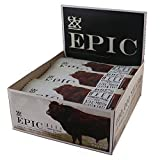 Epic All Natural Meat Bar, 100% Grass Fed, Beef, Habanero and Cherry Meat Bar, 12 count by Epic