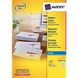 Avery 2400 Etiquettes Autocollante (24 par Feuille) - 63,5x33,9mm - Impression Jet d'Encre - Blanc - J8159