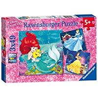 Ravensburger Disney Princess, Princess Adventure 3x 49pc Jigsaw Puzzles