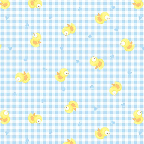 chicks-fabric-easter-fabric-by-half-metre-yellow-ducks-on-blue-gingham-background-easter-spring-fabr
