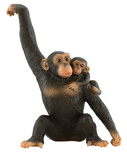 Imagen 3 de Bullyland WWF Chimpancé con Bebé Figura