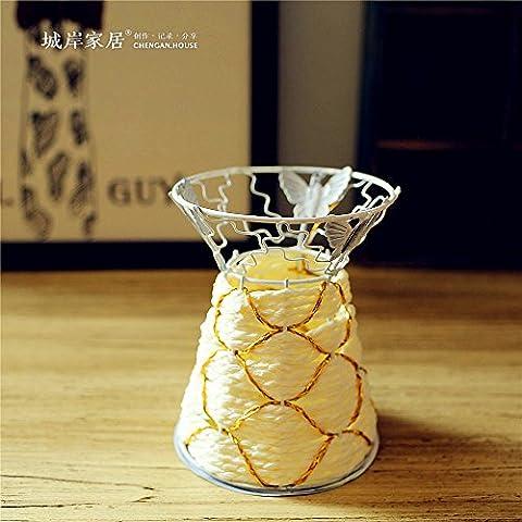 lbcvh oro cuerda adición hierro florero decoración para el hogar 10* 12cm