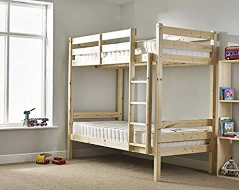 Adult Bunkbed - 3ft Single Bunk Bed - VERY STRONG BUNK! - Contract Use - has TWO centre rails for added support by Strictly Beds Everest Heavy Duty (Bunk Rails)