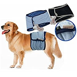 Generic Male Dog Puppy Belly Wrap Band Toilet Training Diaper Sanitary Pants Underwear One Piece