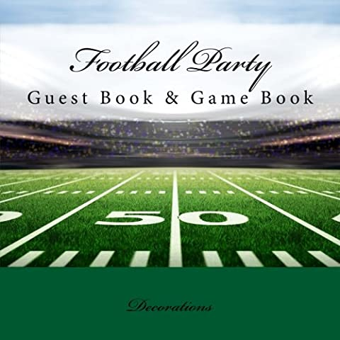 Football Party Decorations: Guest Book & Game Book