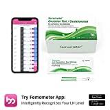 20 Test di ovulazione (LH20) Femometer Risultati altamente sensibili e accurati strisce reattive with App Smart (iOS e Android) Riconoscimento automatico dei risultati dei test, Nuovo stile