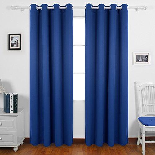 Deconovo tende oscuranti termiche isolanti tende oscuranti con occhielli 140x290 cm blu elettrico 2 pannelli