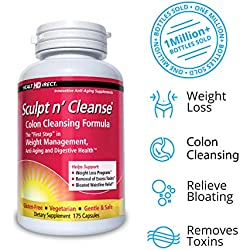 Health Direct - Sculpt n' Cleanse Colon Cleansing Formula 450 mg. - 175 Capsules by Health Direct (English Manual)