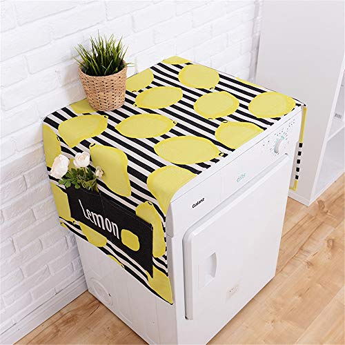 Preisvergleich Produktbild Waschmaschinendeckel Kühlschrank Multifunktionswaschmaschine Obere Abdeckung Kühlschrank Staubschutz Roller Staubschutz Geeignet für die meisten Top- oder Frontlader-Waschtrockner ( Farbe : Gelb )