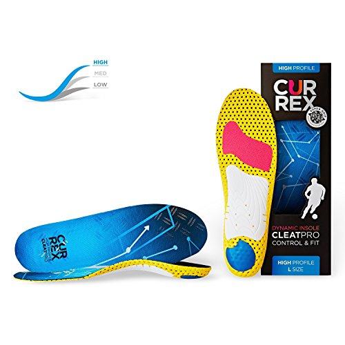 CURREX CleatPro Sohle – Fußball Einlegesohlen für mehr Kontrolle und explosiven Antritt - Dynamische Performance Sport Einlagen für Fußballschuhe oder Stollenschuhe - High Profile - Gr EU 39,5-41,5