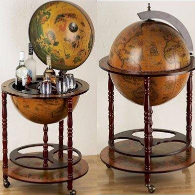 Eucalyptus Bar Globe Drinks Cabinet