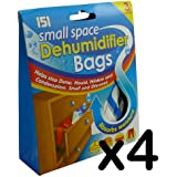 Pack of 3/6/9/12 - Small Space Dehumidifier Bags - Small & Discreet - Absorbs Moisture (Pack of 12)