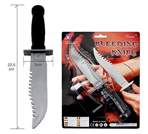 el carnaval Cuchillo sierra con sangre