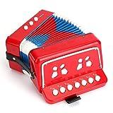 BIEE, Percussioni per pianoforte per bambini, Giocattolo musicale a fisarmonica, Fisarmonica per bambini, Fisarmonica per bambini, Fisarmonica giocattolo a dieci chiavi, Fisarmonica giocattolo
