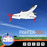RC Airplane, Colorful XK X520 2.4G 6CH RC Airplane Glider Remote Control Plane Outdoor Aircraft