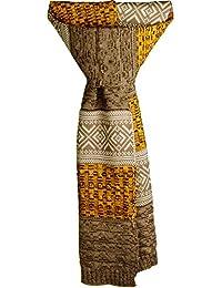 AONER- Bufanda Invierno de Punto de Moda - Bufanda Foulard Tejida Larga Grande de Cuello para Hombre Mujer Unisex