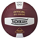 Tachikara SV5WSC Sensi Tec® Composite High Performance Volleyball, SV5WSC.CDW, White/Cardinal, Official