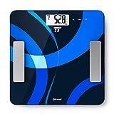 Báscula de Baño Digital TaoTronics Escala Inteligente de Grasa con App, con Análisis Corporal, Peso, Índice de Masa, Grasa, Agua, Músculo, BMR y AMR, Con Bluetooth, Color Negro